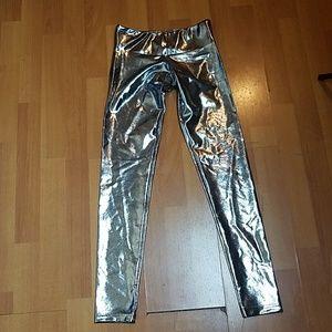 Suki Shufu Metallic Silver Leggings